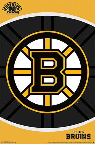 Boston Bruins Official NHL Hockey Team Logo Poster - Costacos Sports