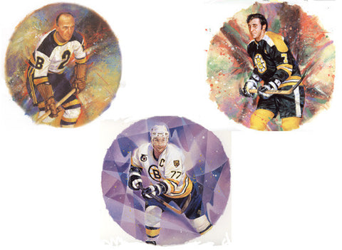 "Boston Bruins ""Legends"" (3 Classic Art Prints Combo)"