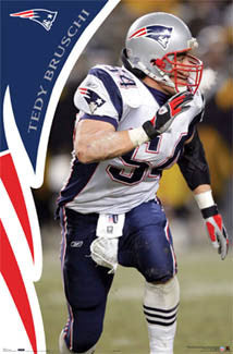 "Tedy Bruschi ""Inspiration"" New England Patriots Action Poster - Costacos 2006"