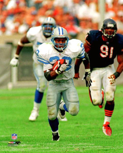 "Barry Sanders ""Breakaway"" (c.1991) Detroit Lions Premium Poster Print - Photofile Inc."