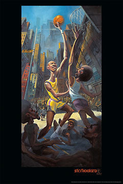 """Skyhooked"" Basketball Art by Justin Bua - Image Conscious 2009"