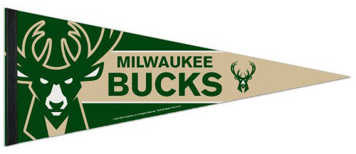 Milwaukee Bucks Official NBA Basketball Team Premium Felt Pennant - Wincraft Inc.