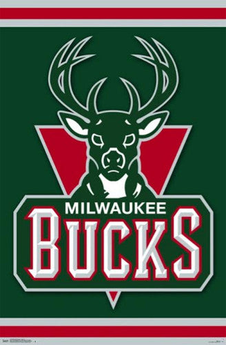 Milwaukee Bucks NBA Basketball Official Team Logo Poster - Costacos 2014