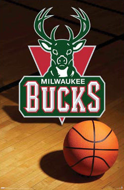 Milwaukee Bucks Official Team Logo Poster - Costacos Sports