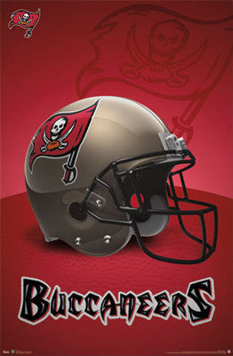 Tampa Bay Buccaneers Official NFL Team Helmet Logo Poster - Costacos Sports