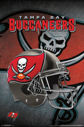Tampa Bay Buccaneers Official Nfl Team Helmet Logo Poster Trends Int Sports Poster Warehouse