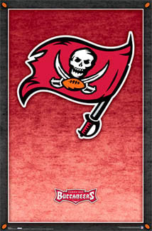 Tampa Bay Bucs Official Logo Poster - Costacos Sports Inc.