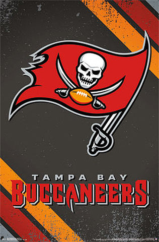 d497b4081 Tampa Bay Buccaneers Official NFL Football Team Logo Poster - Costacos  Sports