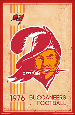 Tampa Bay Buccaneers NFL Heritage Series Retro Logo c.1976 Poster - Costacos Sports