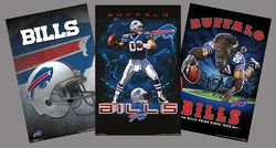 COMBO: Buffalo Bills NFL Football Logo Theme Art 3-Poster Combo Set - Trends International
