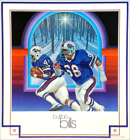 Buffalo Bills 1979 NFL Theme Art Poster by Chuck Ren - DAMAC Inc.
