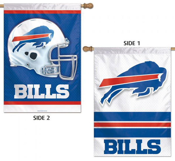 Buffalo Bills Official NFL Football Team Logos 2-Sided 28x40 Wall BANNER - Wincraft