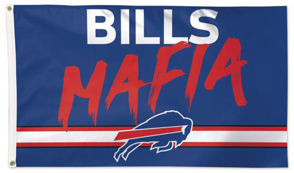 "Buffalo Bills ""Bills Mafia"" Official NFL Football 3'x5' DELUXE Team Flag - Wincraft Inc."