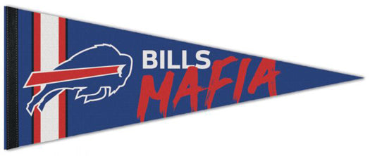 "Buffalo Bills ""Bills Mafia"" Official NFL Football Premium Felt Pennant - Wincraft Inc."
