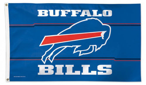 Buffalo Bills Official NFL Football 3'x5' DELUXE Team Flag - Wincraft Inc.