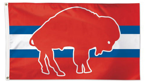 Buffalo Bills Retro AFL 1960s Style Official NFL Football DELUXE 3' x 5' Flag - Wincraft Inc.