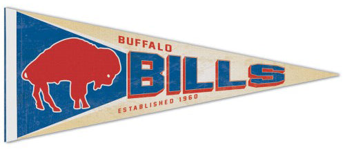 Buffalo Bills NFL Retro 1970-73 Style Premium Felt Collector's Pennant - Wincraft Inc.