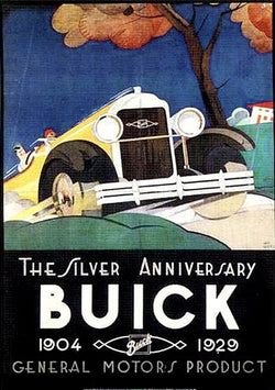 Buick Automobiles by General Motors Silver Anniversary (1929) Vintage Poster Reprint