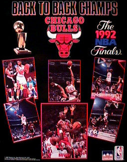 "Chicago Bulls ""Back to Back"" (1992) - Starline 16x20"