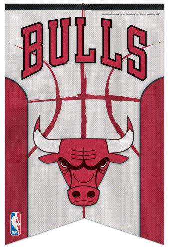 Chicago Bulls Official NBA Basketball Team Logo Premium Felt Banner - Wincraft Inc.