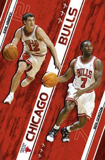 "Chicago Bulls ""Backcourt Boys"" (Kirk Hinrich, Ben Gordon) Poster - Costacos 2005"