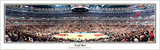 "Chicago Bulls ""Foul Shot"" Playoff Panorama (1997) - Everlasting Images"