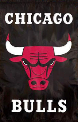 Chicago Bulls Premium NBA Applique Banner Flag - Party Animal