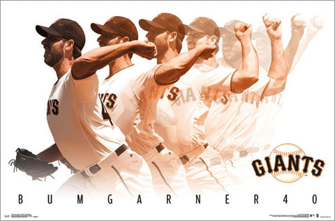 Madison Bumgarner San Francisco Giants Multi-Exposure Pitching Action POSTER - Trends 2017
