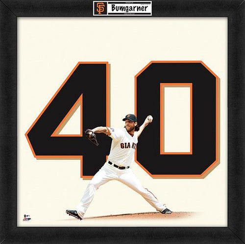 "Madison Bumgarner ""Number 40"" San Francisco Giants FRAMED 20x20 UNIFRAME PRINT - Photofile"