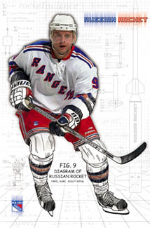 "Pavel Bure ""Russian Rocket 2003"" New York Rangers Poster - Costacos Sports"