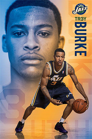 "Trey Burke ""Superstar"" Utah Jazz NBA Basketball Action Poster - Costacos 2014"