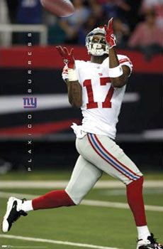 "Plaxico Burress ""Haulin' In"" New York Giants NFL Action Poster - Costacos 2008"
