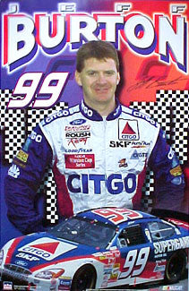 "Jeff Burton ""99"" NASCAR Racing Poster - Starline 2001"