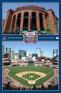 New Busch Stadium St. Louis Cardinals Commemorative Poster - Costacos Sports