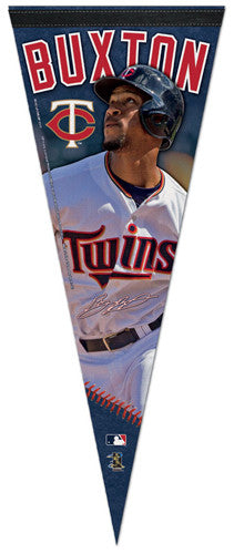 "Byron Buxton ""Signature Series"" Minnesota Twins Official MLB Premium Felt Pennant - Wincraft Inc."