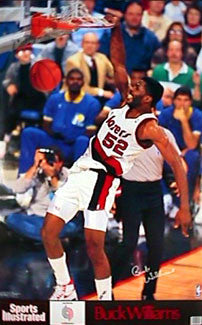 "Buck Williams ""Power Slam"" Portland Trail Blazers Poster - Marketcom/S.I. 1990"