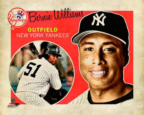 "Bernie Williams ""Retro SuperCard"" New York Yankees Premium Poster Print - Photofile 16x20"