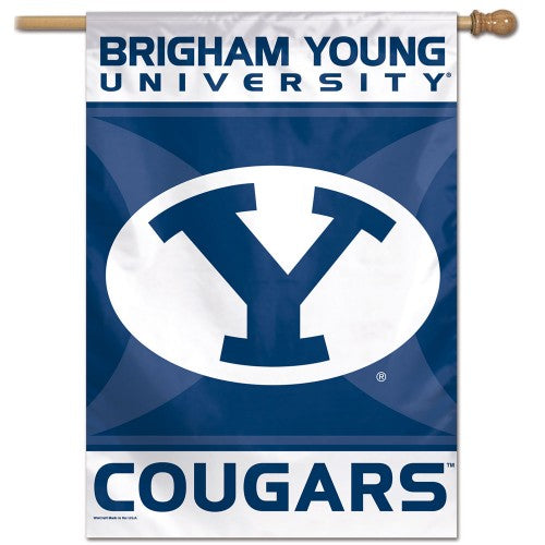 BYU Brigham Young University Cougars Official NCAA Premium 28x40 Wall Banner - Wincraft Inc.