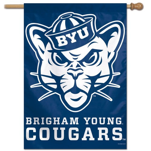 "BYU Brigham Young University Cougars ""Cosmo"" Official NCAA Premium 28x40 Wall Banner - Wincraft Inc."