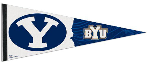 Brigham Young BYU Cougars NCAA Team Logo Premium Felt Collector's Pennant - Wincraft Inc.