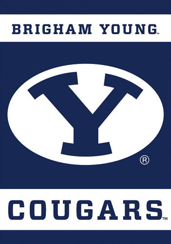 Brigham Young University Cougars Official 28x40 NCAA Premium Team Banner - BSI Products
