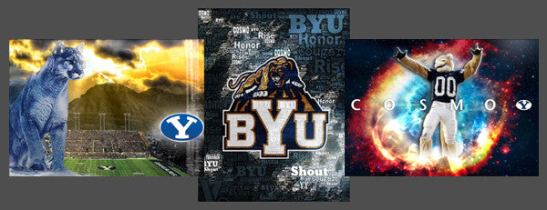 "Brigham Young University ""BYU Football Spirit"" 3-Poster Combo Set - Team Spirit Posters"
