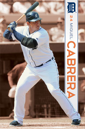 "Miguel Cabrera ""Superstar"" Detroit Tigers Action Poster - Costacos 2011"
