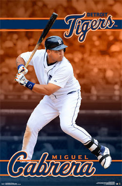 "Miguel Cabrera ""Blast"" Detroit Tigers Official MLB Baseball Action Poster - Trends 2016"