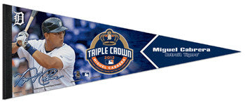 Miguel Cabrera 2012 Triple Crown Winner Commemorative Premium Felt Pennant