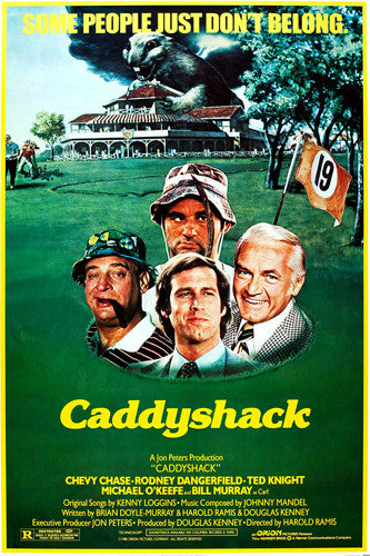 Caddyshack (1980) Classic Golf Comedy Movie Poster Reprint (24x36) - Eurographics Inc.