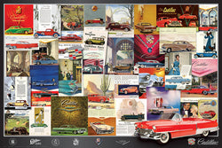 Cadillac Vintage Classic Car Ad Collage Poster - Eurographics Inc.