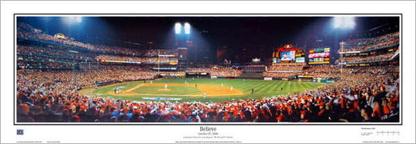 "St. Louis Cardinals ""Believe"" (2006 World Series) Busch Stadium Panoramic Poster Print - Everlasting Images"