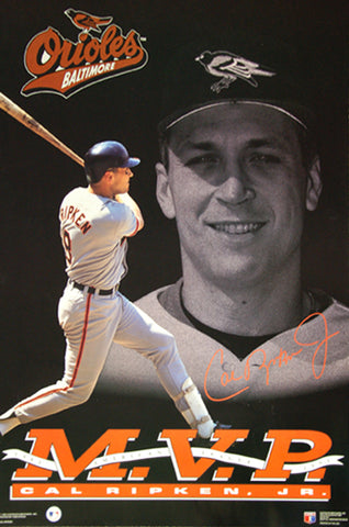 Cal Ripken Jr. American League MVP 1983, 1991 Baltimore Orioles Commemorative Poster - Costacos Brothers
