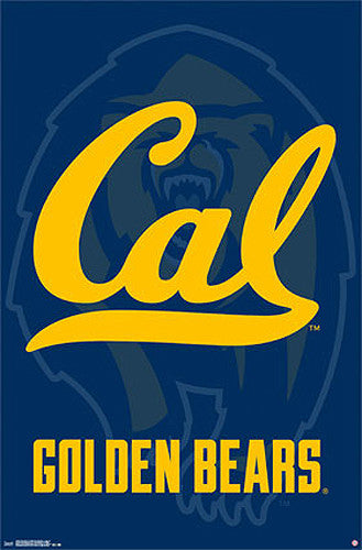 University of California Berkeley Bears Official NCAA Team Logo Poster - Costacos 2014
